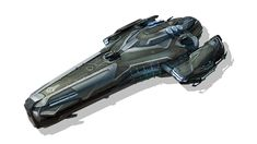 Concept art for a gunship.