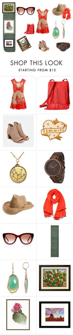 """""""Out West"""" by angelasauntie on Polyvore featuring Emilio Pucci, Rebecca Minkoff, JustFab, Olivia Pratt, Roxy, Shop Latitude Bazaar, Thierry Lasry, Home Decorators Collection, Vince Camuto and Pottery Barn"""