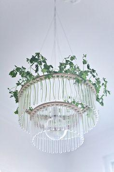 Maria S.C. double test tubes chandelier by PaniJurek on Etsy