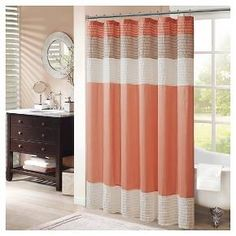 The perfect way to bring a zesty splash of color into your life, this Salem Solid Pieced Polyester Shower Curtain w/ Pintucking will set any bathroom ablaze with style. The ideal blend of rich hues sure to soothe the soul - especially after a long day - these upscale shower curtains are made of a sturdy polyester material so you just know they'll hold-up over time. As an ideal alternative fabric to your typical vinyl shower curtain, polyester contains no PVC's, are super-easy to ...
