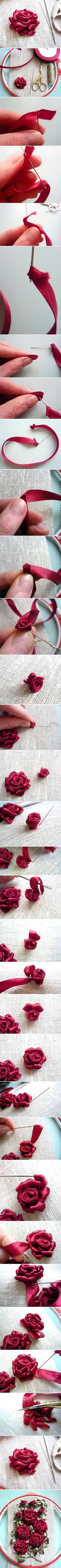 Love silk flower embroidery and crazy quilt embroidery