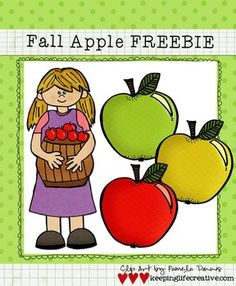 FREE Fall Apple Clip Art
