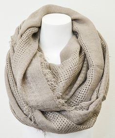 Leto Collection Mocha Open Grid Infinity Scarf | zulily 30'' W x 60'' circumference 100% acrylic Hand wash Importe