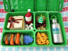 Bento School Lunches: Go Green Lunch Box Review and Christmas Present bento lunch