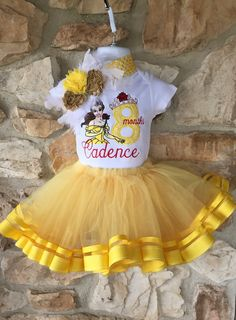 Cumpleaños tema camiseta Belle belleza y la bestia Disney