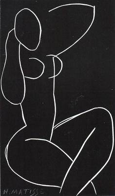 Nu Assis, Jambes Croisées. / By Henri Matisse, 1941-2.