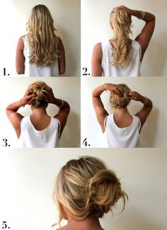 How to make a perfect messy bun. I love casual low dos (7 pictures)