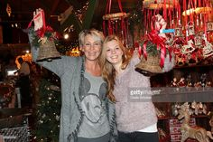 Claudia Jung and her daughter Anna Singer (R) during the Opening of the Gut Aiderbichl Christmas Market on November 11, 2014 in Henndorf am Wallersee, Austria.