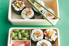 Find the recipe for Veggie Sushi Rolls and other rice recipes at Epicurious.com
