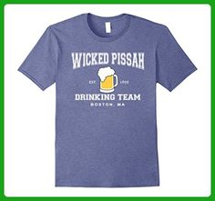 Mens Wicked Pissah Drinking Team Boston Beer Shirt 2XL Heather Blue - Food and drink shirts (*Amazon Partner-Link)