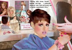 Femdom Sissy: Sissy 16 Punishment -- by Christeen Transgender Comic, Transgender Girls, Prissy Sissy, Sissy Boy, Captions Feminization, Femdom Captions, Petticoated Boys, Feminized Boys, Beautiful Young Lady