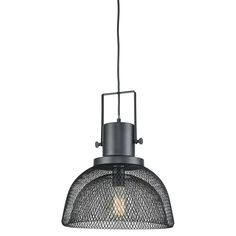 Metal mesh forms the distinctive, two-layer shade on this Darknet single-light pendant, lending an industrial-inspired element to this unique design. The edgy, industrial vibe is continued with the metal frame fitter and Oil Rubbed Bronze finish. Modern Farmhouse Lighting, Modern Farmhouse Style, Rustic Style, Bronze Pendant, Light Pendant, Pendant Lighting, Elk Lighting, Home Lighting, Metal Mesh
