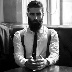 Men's Short Hair Beard