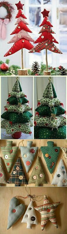 Amazing Home Sewing Crafts Ideas. Incredible Home Sewing Crafts Ideas. Christmas Makes, Felt Christmas, Rustic Christmas, Handmade Christmas, Christmas Tree Ornaments, Christmas Holidays, Diy Ornaments, Christmas Projects, Holiday Crafts