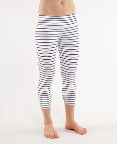 Striped Workout Capris