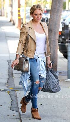#hilaryduff in #Rag&Bone Capri Jeans NOW 92,40 $US (60% off)