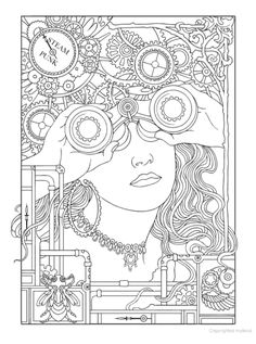 Creative Haven Steampunk Designs Coloring Book, Dover Publications