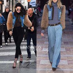 @kendalljenner was spotted in Paris on her way to dinner clad in a $1,380 @soniarykiel short denim jacket with fur sleeves. Hot! Or Hmm... Written by @marshbarscloset  #KendallJenner #soniarykiel #celebrityStyle #Fashion #Style #instafashion #instastyle #fashionbombdaily