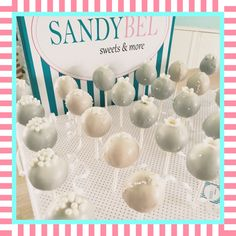 "Cake Pops für die ""White Party"" by #sandybel #whiteparty"