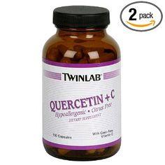 Twinlab Quercetin Plus C, 100 Capsules (Pack of 2)