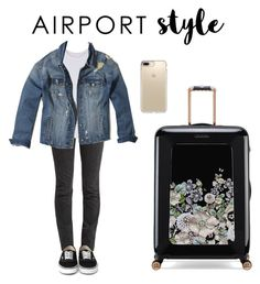 """Airport Style"" by dreamyangelina ❤ liked on Polyvore featuring Vetements, Ted Baker, Speck and Hollister Co."