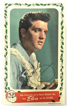 Elvis Christmas card from 1961