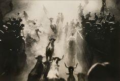 Running of the Bulls - Pamplona, Spain by Luis Garcia (1931)