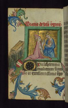 Illuminated manuscript, Prayer book of Bishop Leonhard von Laymingen of Passau, Virgin with kneeling bishop, Walters Manuscript W.163, fol. 75v | by Walters Art Museum Illuminated Manuscripts