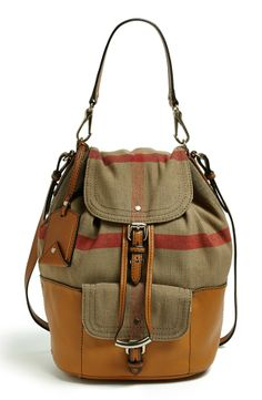 Burberry Brit Canvas Check Crossbody Hobo, Large