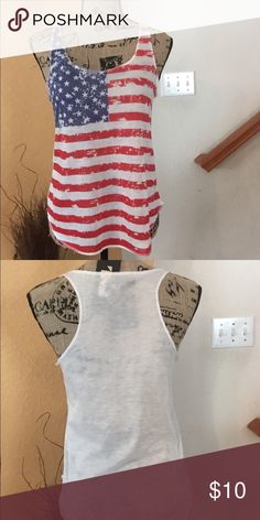 American flag tank Show your patriotism with this fun tank. Tops Tank Tops