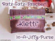Beccy Sew: Ratz-Fatz-Tascherl ~ Kletti ~ In-A-Jiffy-Purse
