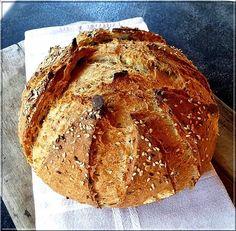 Sárgarépás-magvas kenyér Pizza, Vegan Bread, Pie Dessert, How To Make Bread, Tortillas, Bread Baking, Baguette, Banana Bread, Bakery