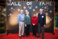 Guests step up to the wall of fame at the 2013 Volunteer Appreciation Dinner.