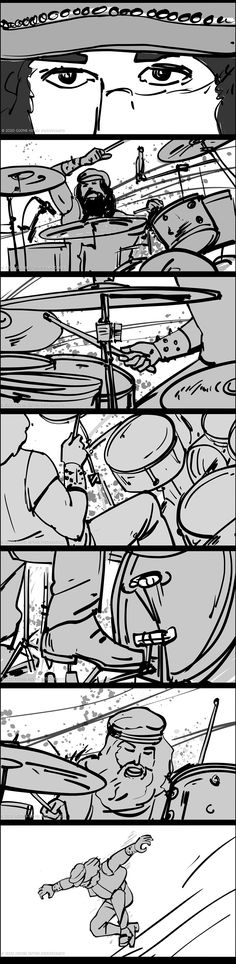 Storyboards 35-39: Full set of sequence with bad ass drummer. . #film #filmphotography #sequence #movies #moviescene #moviescenes #makingmovie #makingfilm #moviemaking #storyboard #artist #storyboarding #storyboards #drawing #drawings #films #filmdirector #director #filmcrew #filmmaking #filmmaker #preproduction #conceptart #filmproduction #illustrator #illustration Video Storyboard, Storyboard Artist, Pre Production, Film Director, Film Photography, Drawing S, Filmmaking, Storytelling, Comic Art