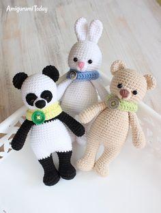 Панда-обнимашка - схема вязания игрушки