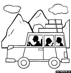 Road Trip Coloring Page   Free Road Trip Online Co