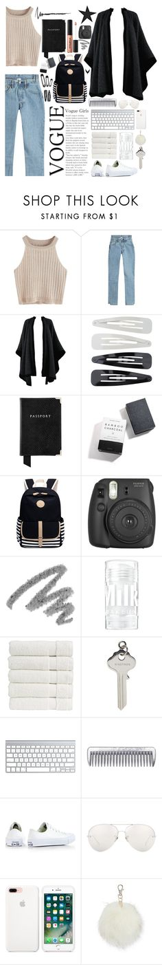 """""""Off to LA"""" by biscuitatlas ❤ liked on Polyvore featuring Vetements, Yves Saint Laurent, Forever 21, Aspinal of London, Herbivore, Fujifilm, Christy, Ribeyron, Converse and Linda Farrow"""
