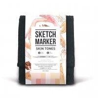 Набор спиртовых маркеров, Skin tones (Оттенки кожи) Set 12, SketchMarker