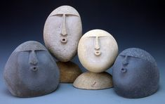 Sandblasted stone art stone heads Spemncer Watson - The world's most private search engine Stone Sculpture, Sculpture Art, Dremel Carving, Cardboard Sculpture, Sculptures Céramiques, Tadelakt, Stone Crafts, Stone Carving, Pebble Art