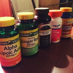 Tomorrow starts my two week detoxification Phase I always do after a hard mass gain or fat loss Phase! Basically consists of low protein high vegetables and fruits and fiber foods and NO supplements...welllllllllll maybe a few. These are all to help my body flush the toxins ALA - acts as an antioxidant in the body as well as aiding in glucose uptake by muscle cells I take this with my carb meals Ginger - contains the bio active compound gingerol (clever name I know) that helps with digestion…