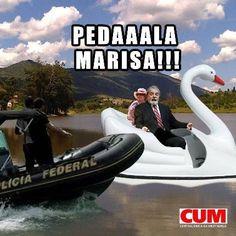 Lula e Marisa no Pedalinho (Foto: Reprodução)