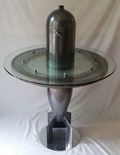 MOTOART GET BOMBED TABLE WWII PRACTICE BOMB & B52 TURBINE FAN WITH ICE BUCKET in Collectibles   eBay
