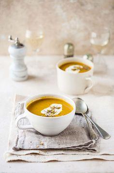 carrot & coriander soup with cumin & orange