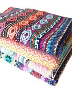 Peruvian Fabric & Textiles by the Yard #textiles #etsy #fabric #diy #design #peru #peruvian #aguayo