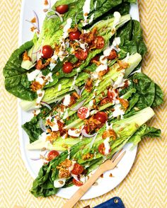 Romaine Wedge Salad with Hearts of Palm Dressing