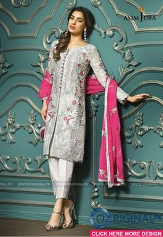 Pakistani Fancy Dresses Asim Jofa Mysorie Chiffon Collection consists of women best embroidered luxury suits, perfect for eid, weddings, parties, Pakistani Fancy Dresses, Pakistani Dress Design, Pakistani Designers, Pakistani Outfits, Indian Dresses, Indian Outfits, Pakistan Fashion, India Fashion, Indian Designer Outfits