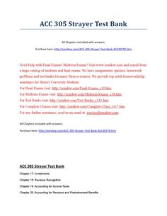 Acc 305 strayer all quizzes, midterm and final exams strayer latest
