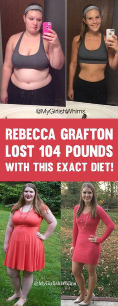 MyGirlishWhims Rebecca Grafton Lost 104 Pounds With This Exact Diet! - TrimmedandToned