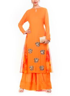 The styles offered by the brand include unique collection of cocktail gowns and gown-sarees with creative cuts and drapes, suits for formal and semi-formal occasions, wedding wear lehengas and lehenga-sarees, as well as trendy tunics and dresses for the more informal occasions.