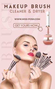 How to clean your Makeup Brushes at HOME ✨ www.Miss-Posh.com - Free Delivery Worldwide 📦🚚 #makeup #makeupbrushes #brushes #mua #cleanbrushes #bacteria #blogger #skincare #beautyblogger #ukblogger #uk #freedelivery #online #onlineshop #shopping #shoppingonline #sale Old Makeup, Make Makeup, How To Clean Makeup Brushes, How To Apply Makeup, Highlighter Brush, Contour Brush, Liquid Foundation Brush, Brush Cleanser, Beauty Corner
